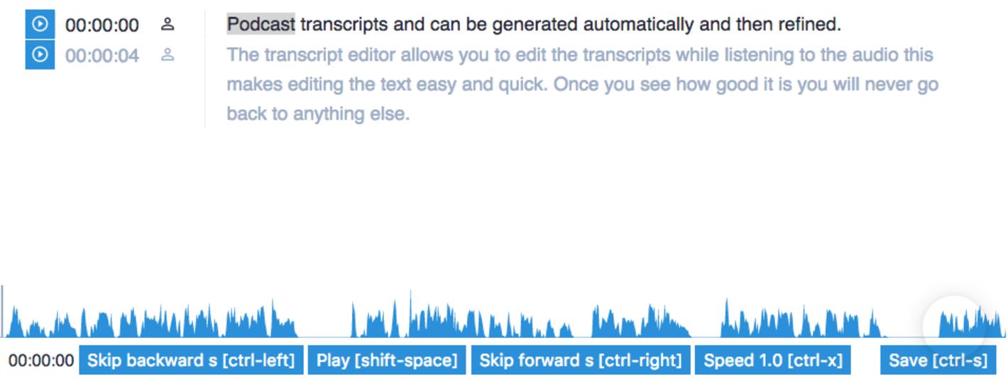 Transcript editor